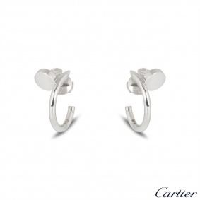 Cartier White Gold Plain Juste un Clou Earrings B8301236